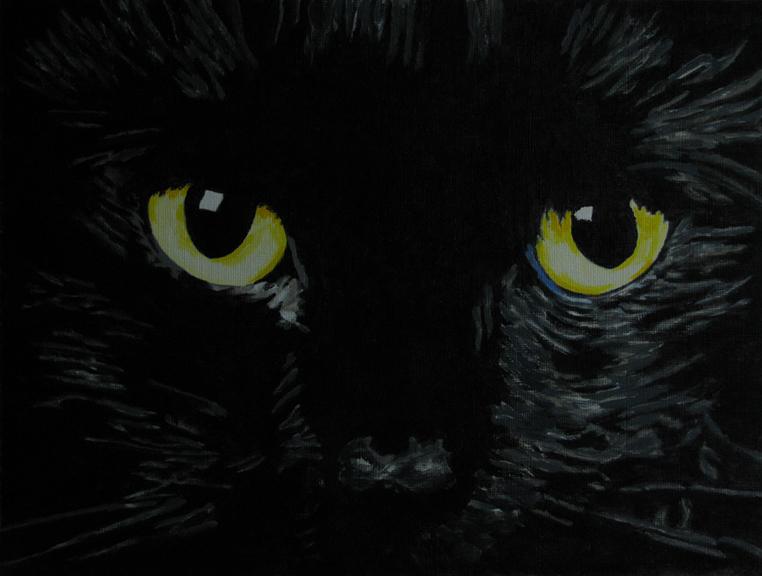"""Superstitious Eyes"" original fine art by Nan Johnson"