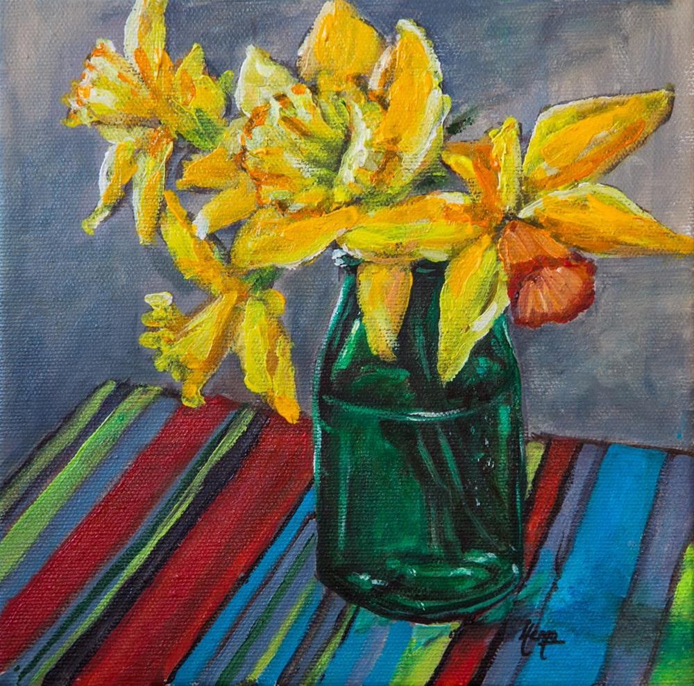 """Garden Daffies"" original fine art by Hema Sukumar"
