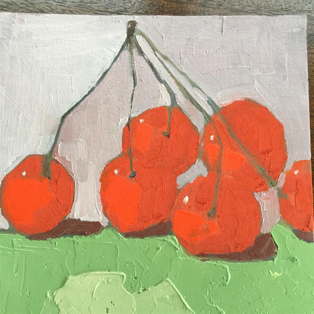 """Dancing cheeries"" original fine art by pamela kish"