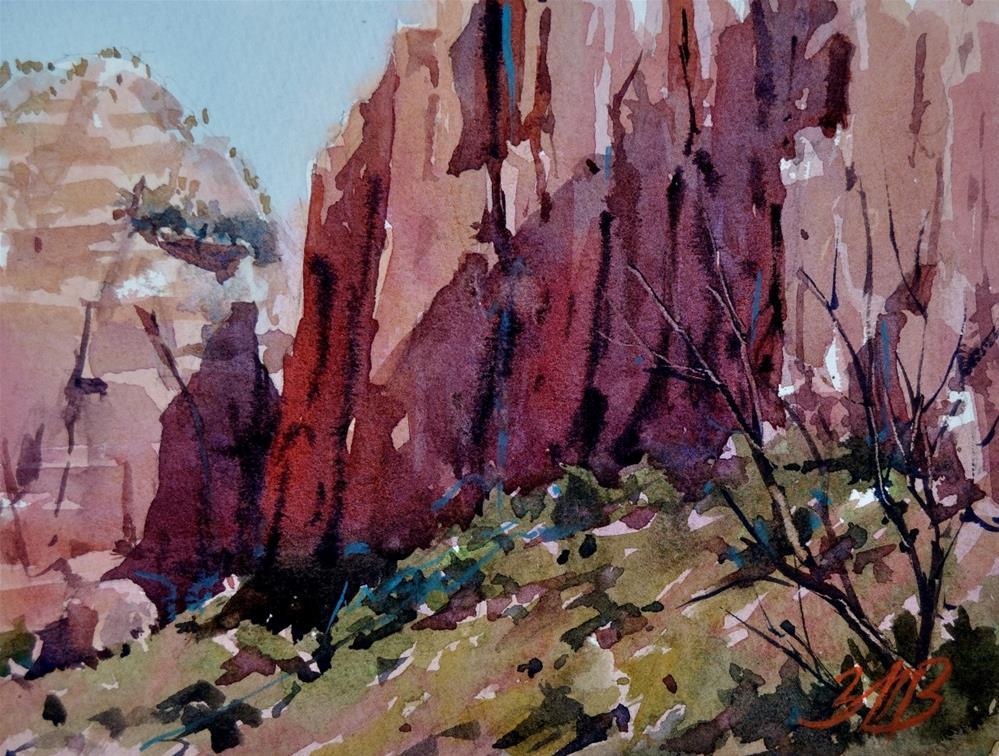 """Canyon Walls Study"" original fine art by Brienne M Brown"