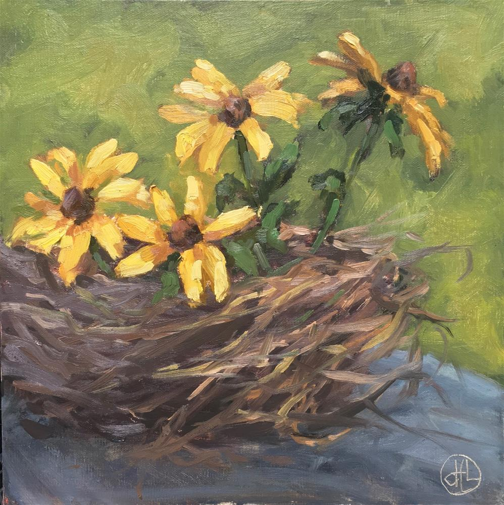 """nesting"" original fine art by Dottie  T  Leatherwood"