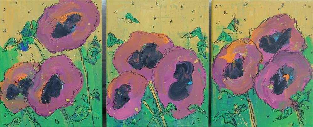 """""""Magenta Garden"""" original fine art by Terri Einer"""