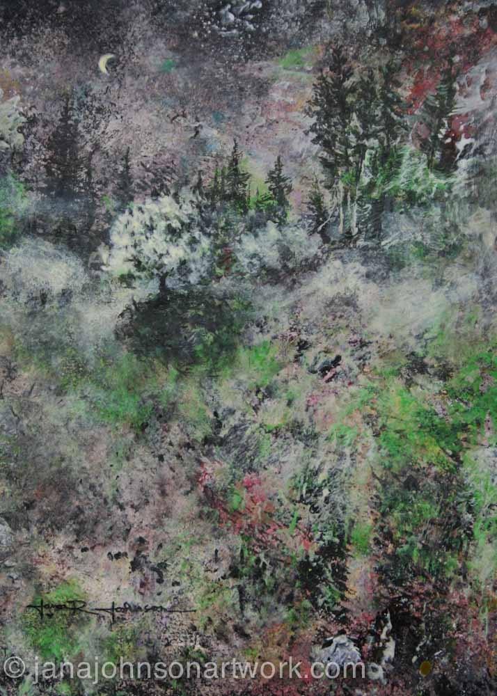 """""""Moonlit Meadow"""" original fine art by Jana Johnson"""