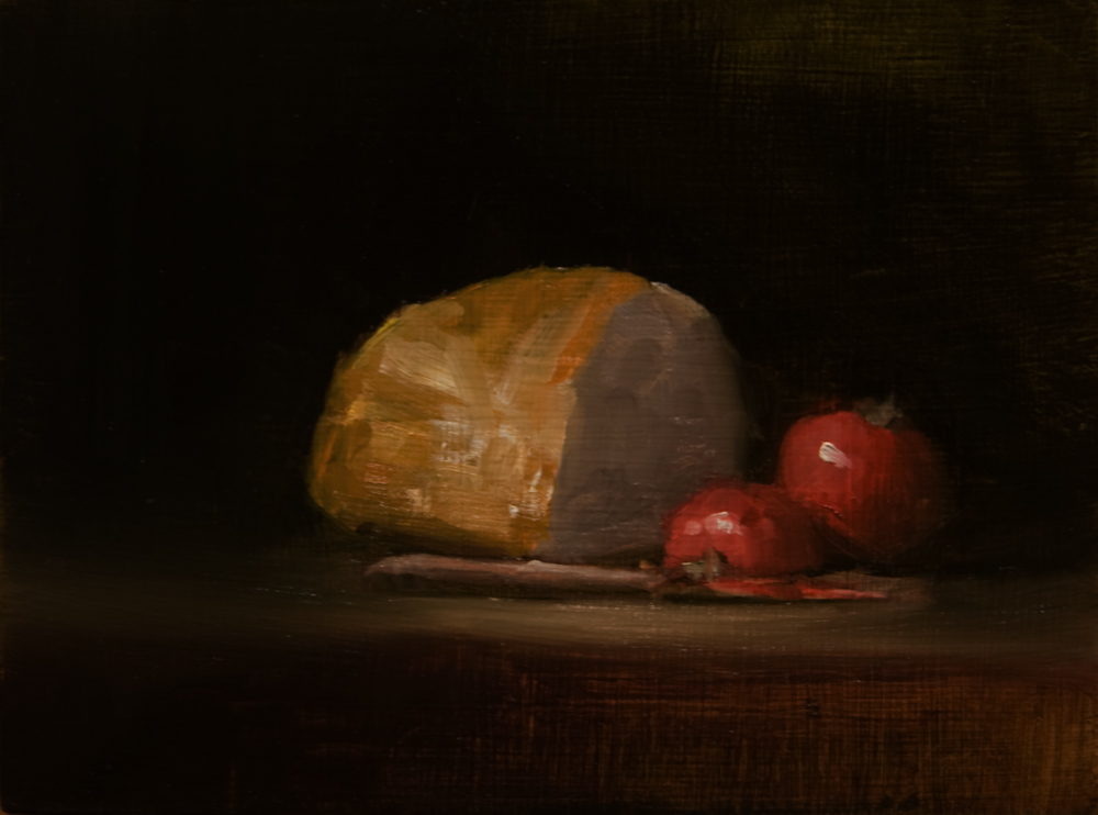 """Bread with Tomatoes"" original fine art by Neil Carroll"