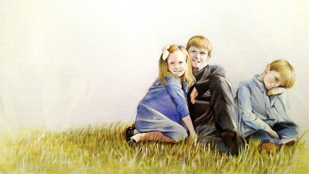 """The Hillside Portrait"" original fine art by Michaela Brown"