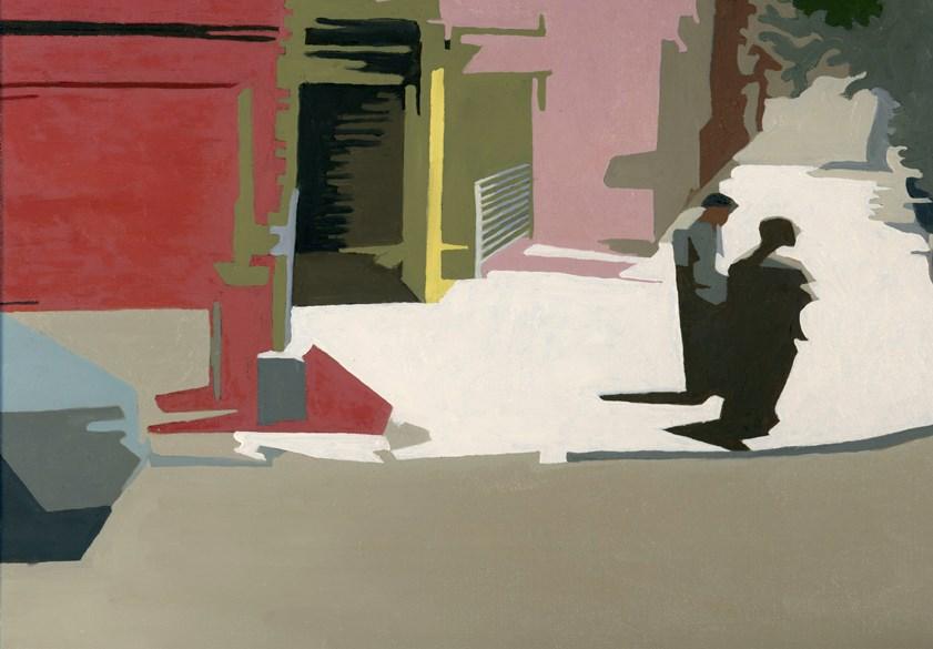 """caught on the corner #2"" original fine art by Nancy Herman"