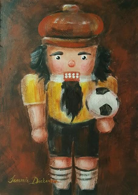 """Buff Soccer Nutcracker"" original fine art by Tammie Dickerson"