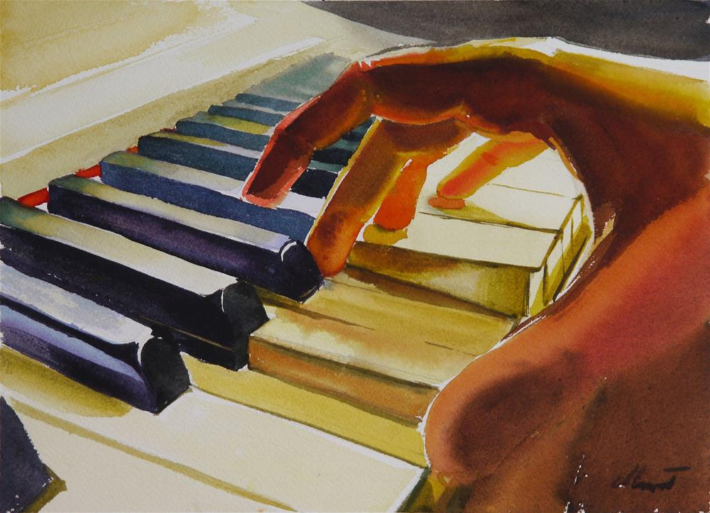 """piano_1"" original fine art by Beata Musial-Tomaszewska"