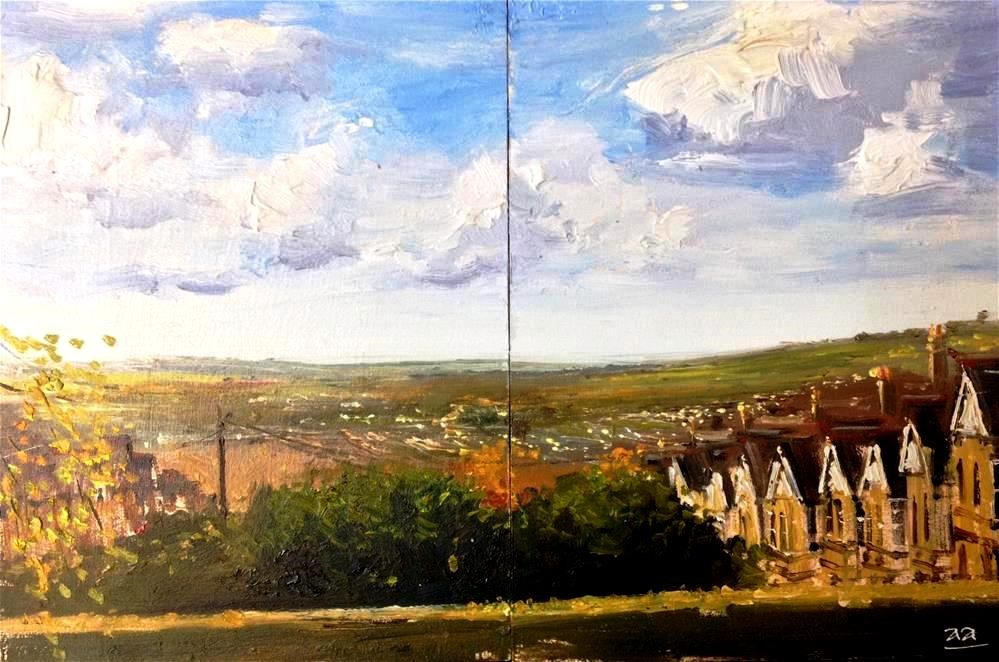 """City of Bath from Alexander Park"" original fine art by Adebanji Alade"