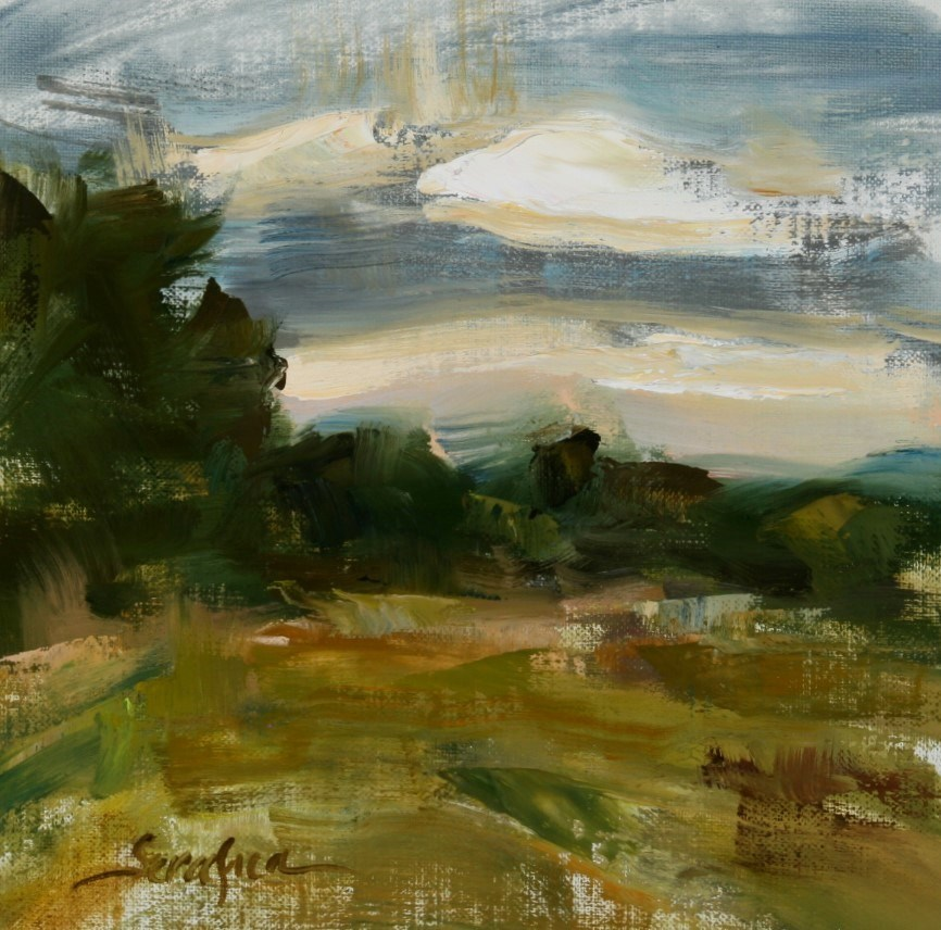 """Evening Rain"" original fine art by Scott Serafica"