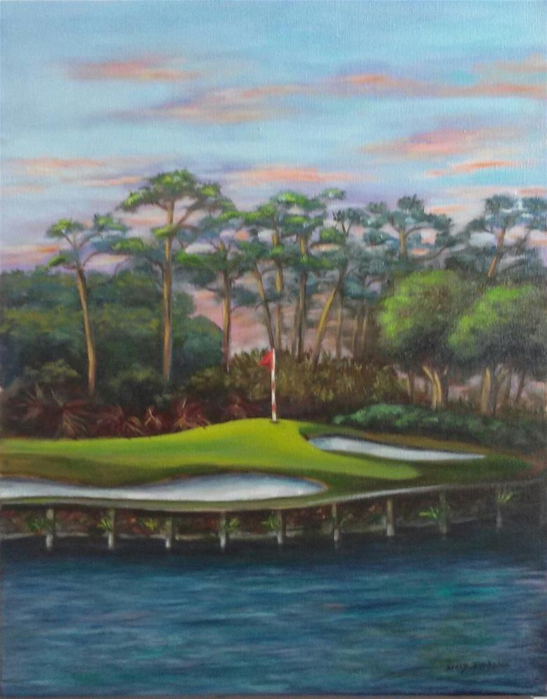 """Naples Golf Course"" original fine art by Sissy Blakslee"