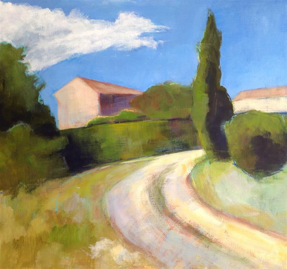 """Around the Bend at Les Bassacs"" original fine art by Patricia MacDonald"