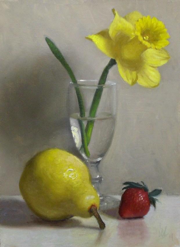 """Spring Yellows"" original fine art by Debra Becks Cooper"
