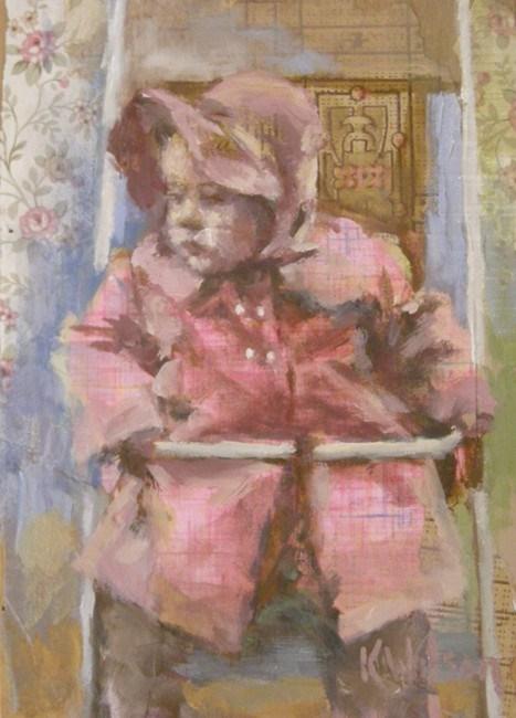 """""""Pink Coat"""" original fine art by Katie Wilson"""
