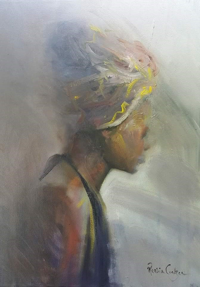 """Headdress"" original fine art by Rentia Coetzee"