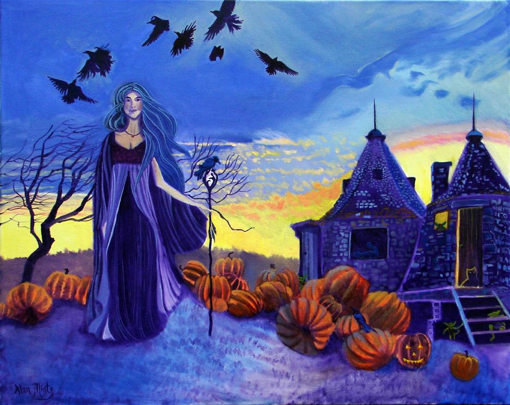 """Halloween"" original fine art by Alan Mintz"