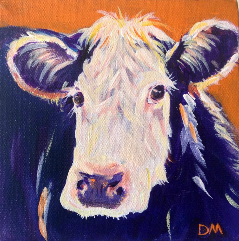 """""""Moo"""" original fine art by Dawn Melka"""