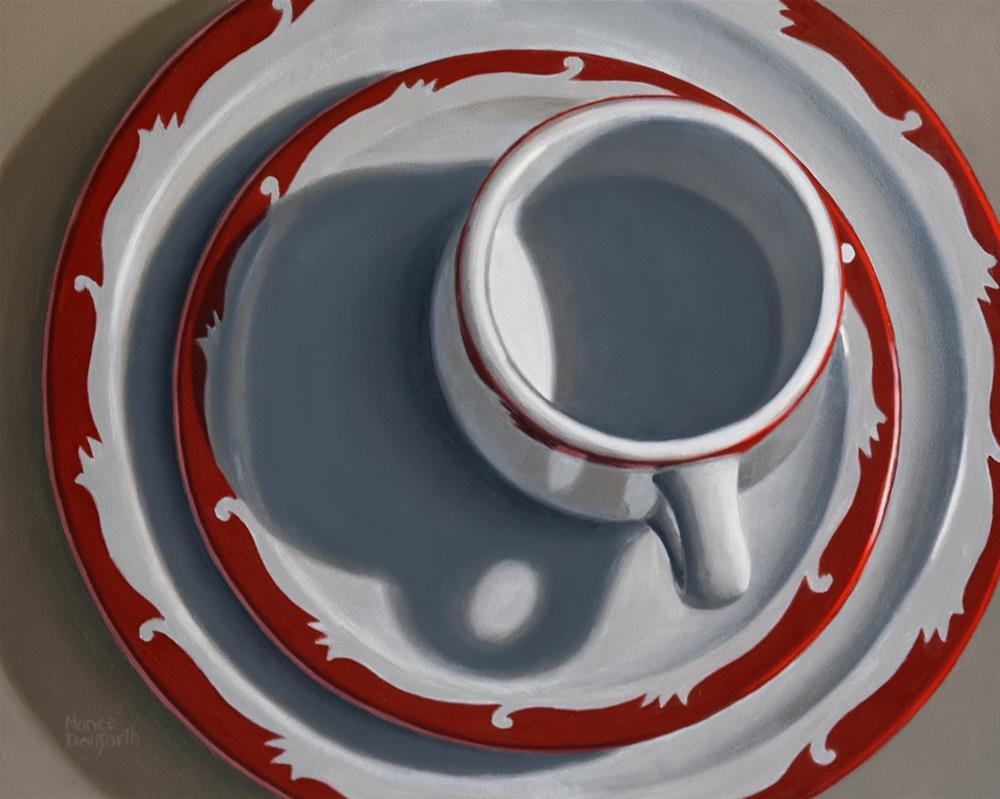 """Retro Dinnerware"" original fine art by Nance Danforth"
