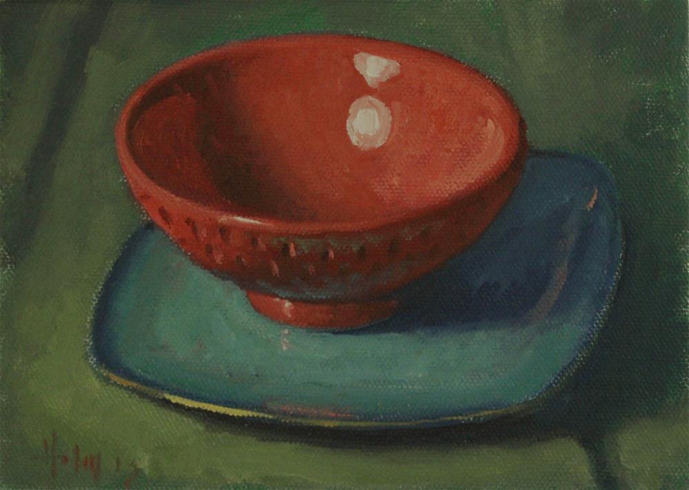 """Strawberry Bowl"" original fine art by Ski Holm"