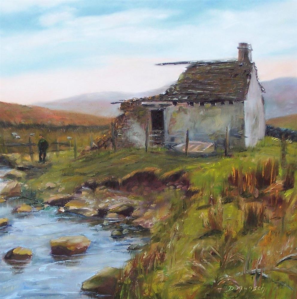 """Derelict Play House"" original fine art by Donna Munsch"
