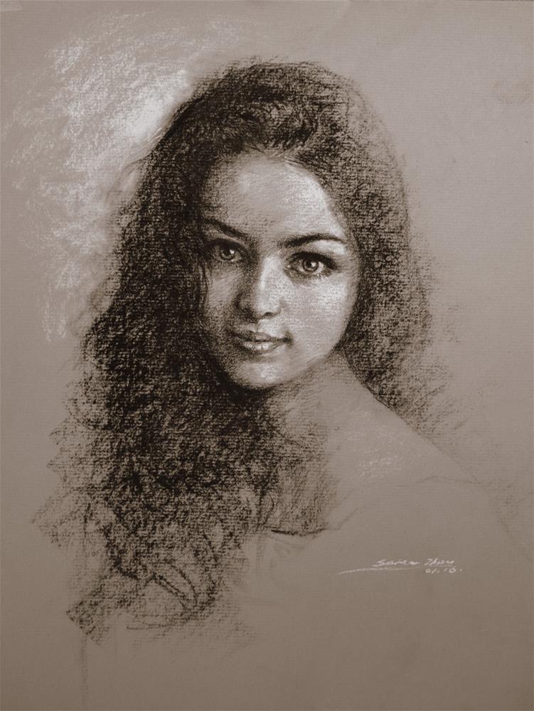 """""""Rebecca"""" original fine art by Sabrina Zhou"""
