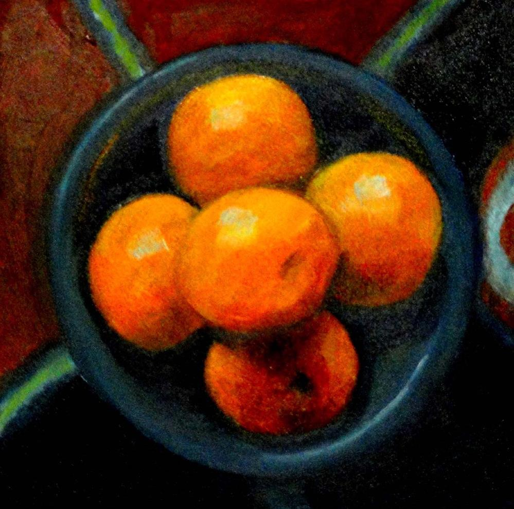 """Five Oranges"" original fine art by Cietha Wilson"