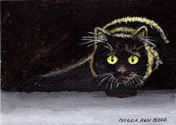 """""""Midnight Stalking"""" original fine art by Patricia Ann Rizzo"""