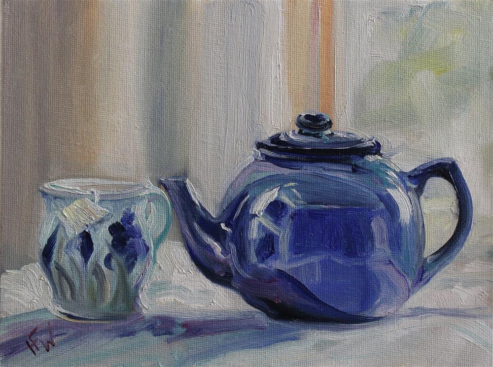 """Favorite Blue Teapot"" original fine art by H.F. Wallen"