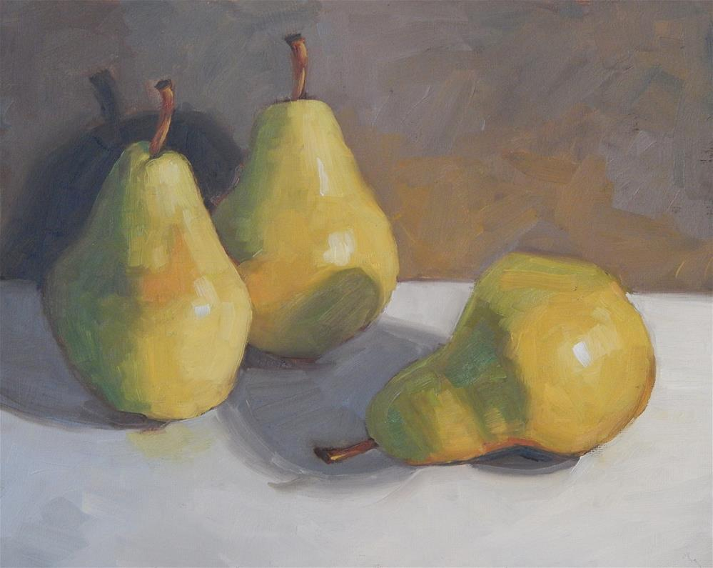 """Three Ripe Pears"" original fine art by Lisa Kyle"