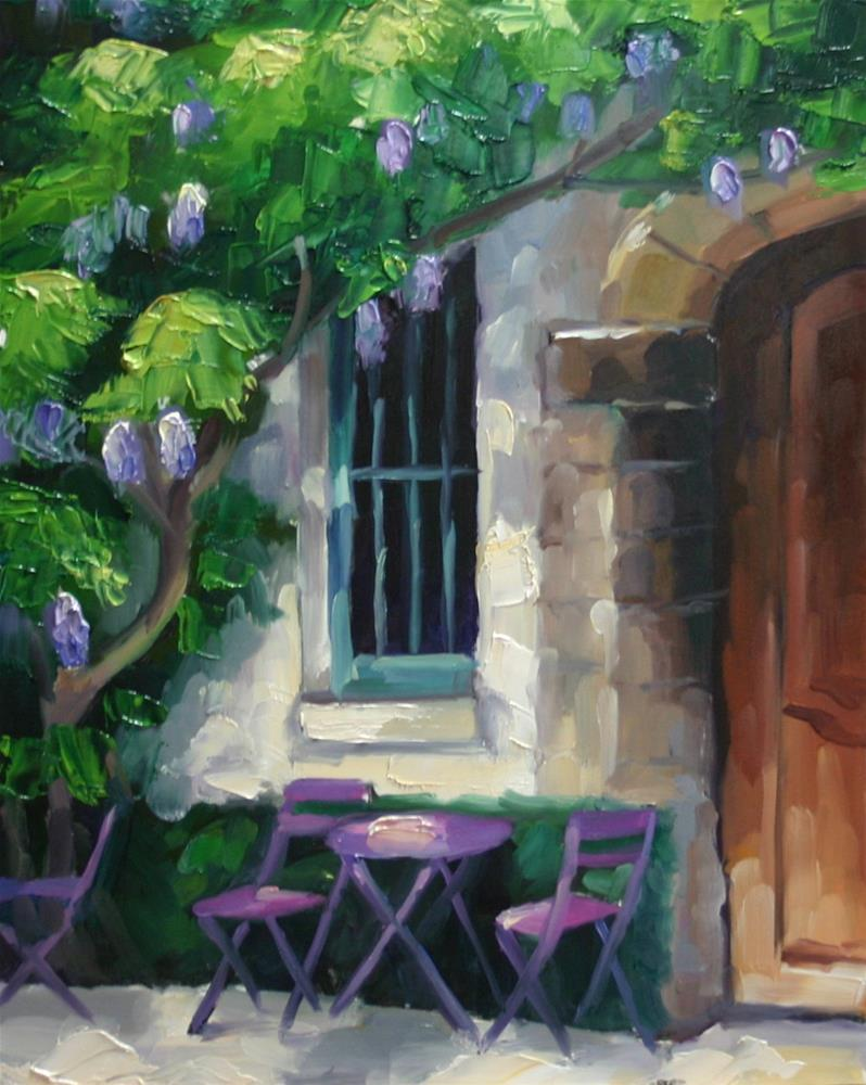 """""""Au Vieux Paris D'arcole, Rue Chanoinesse"""" original fine art by Catherine Jeffrey"""