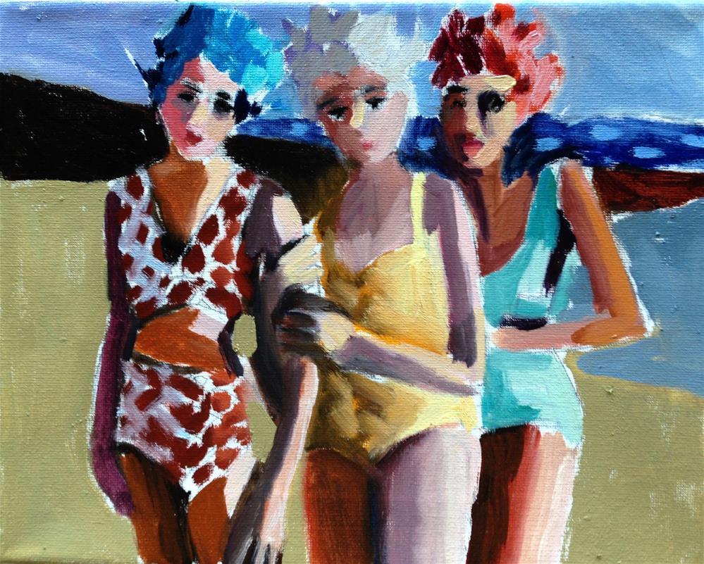 """Bathing Buddies"" original fine art by Pamela Hoffmeister"