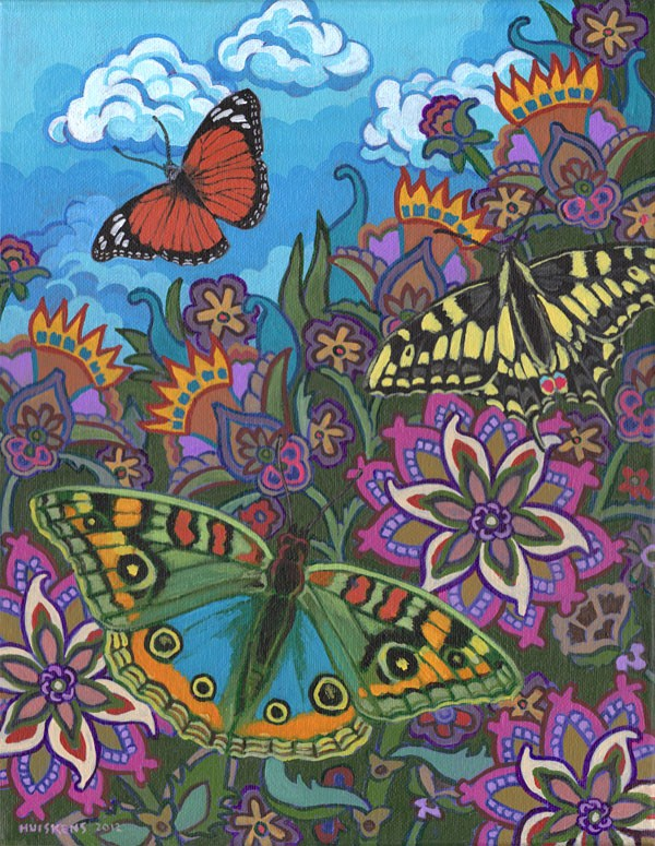 """Butterflies No. 3"" original fine art by Randal Huiskens"
