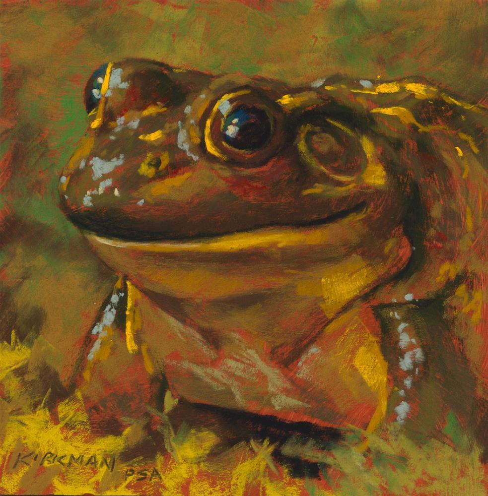 """Happy Toad"" original fine art by Rita Kirkman"