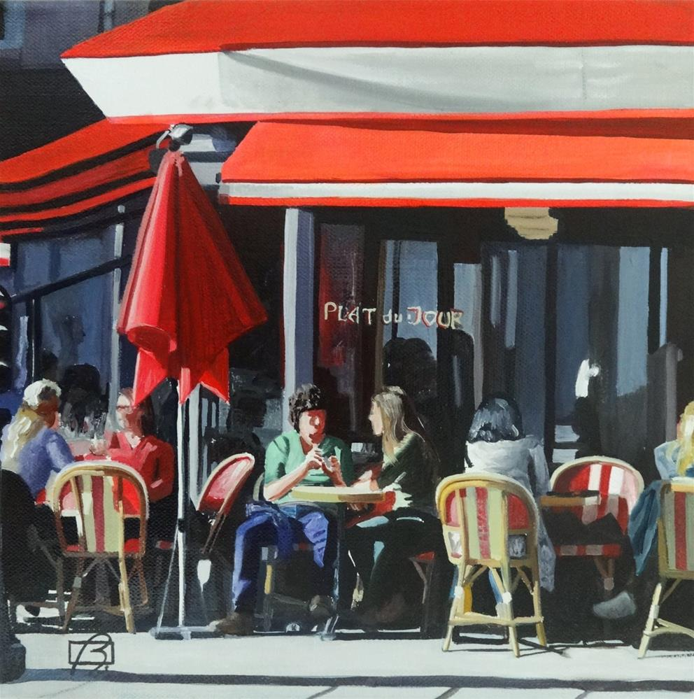 """Cafe Saint-Augustin (plat du jour)"" original fine art by Andre Beaulieu"