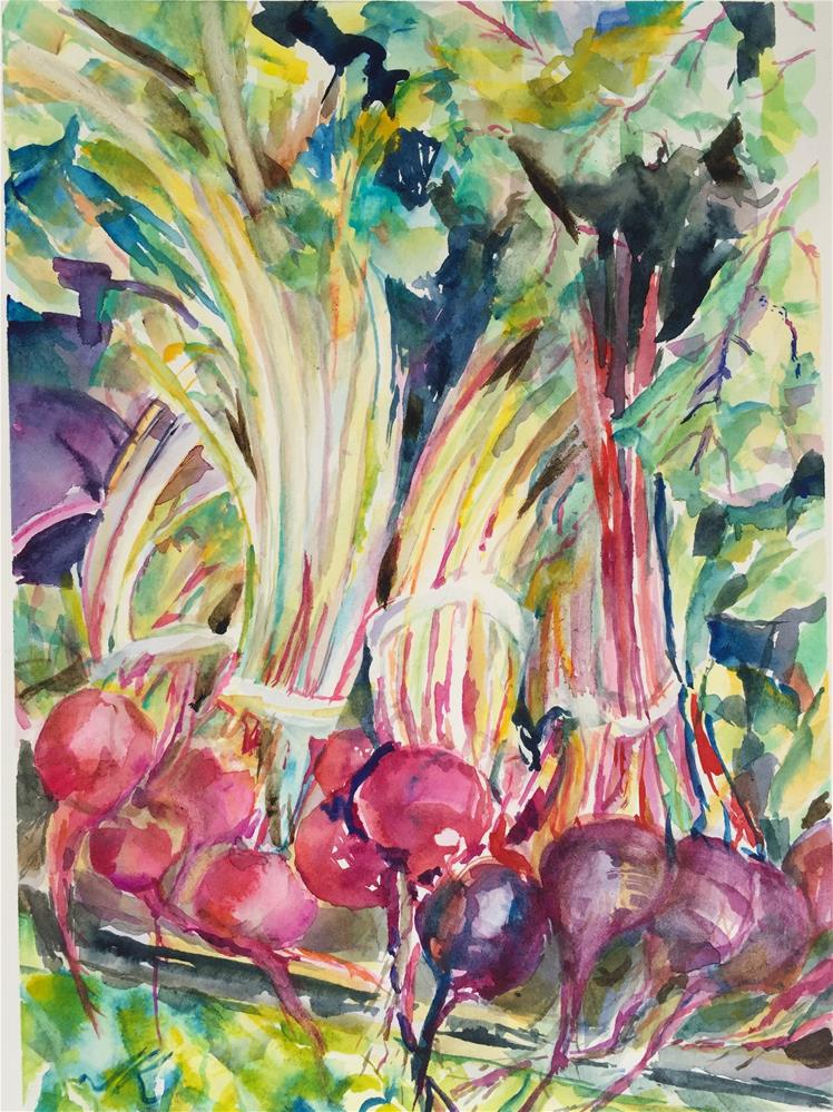 """New Beets"" original fine art by Jean Krueger"