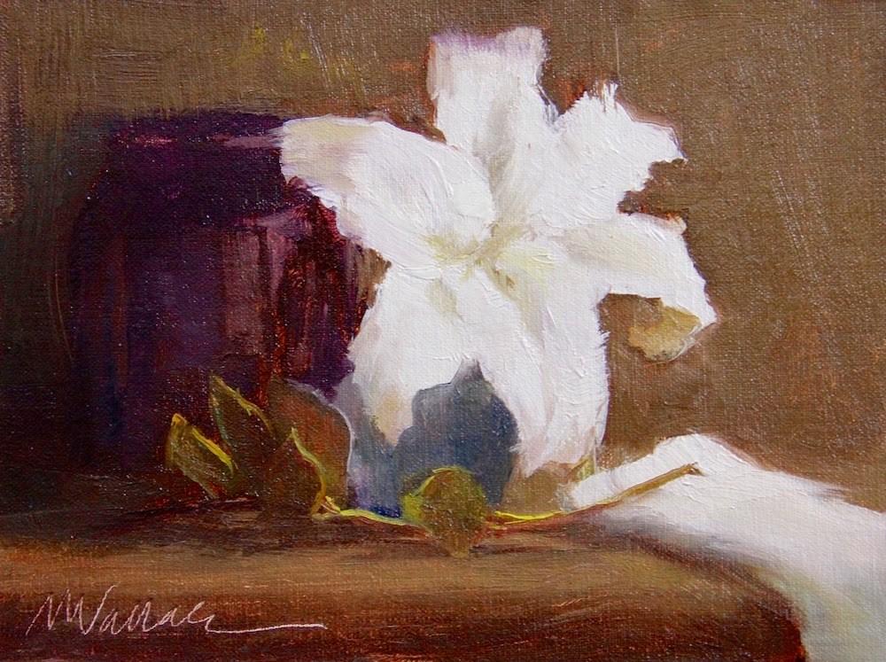"""""""#10 Lily white"""" original fine art by Nancy Wallace"""