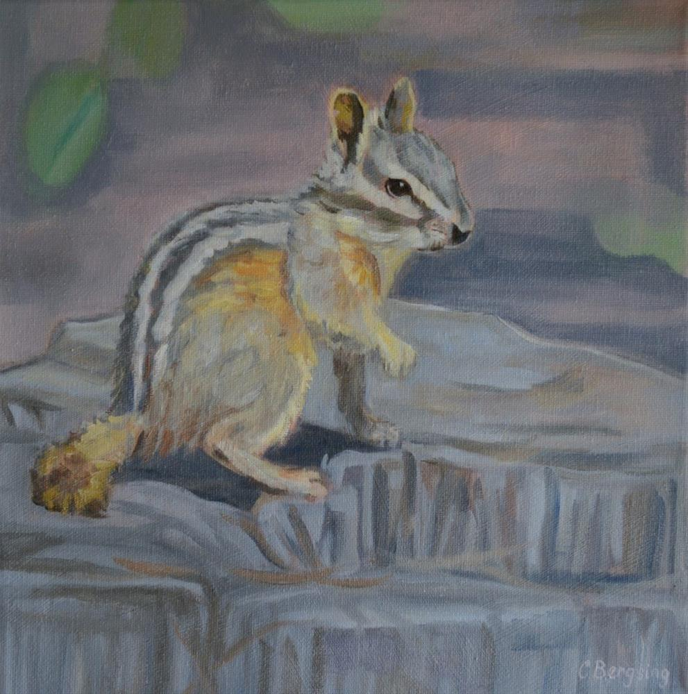 """Camp Chipmunk"" original fine art by Cathy Bergsing"