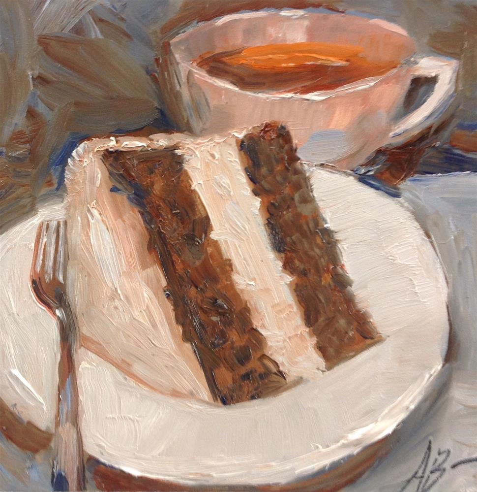 """Cup and Cake"" original fine art by Annette Balesteri"