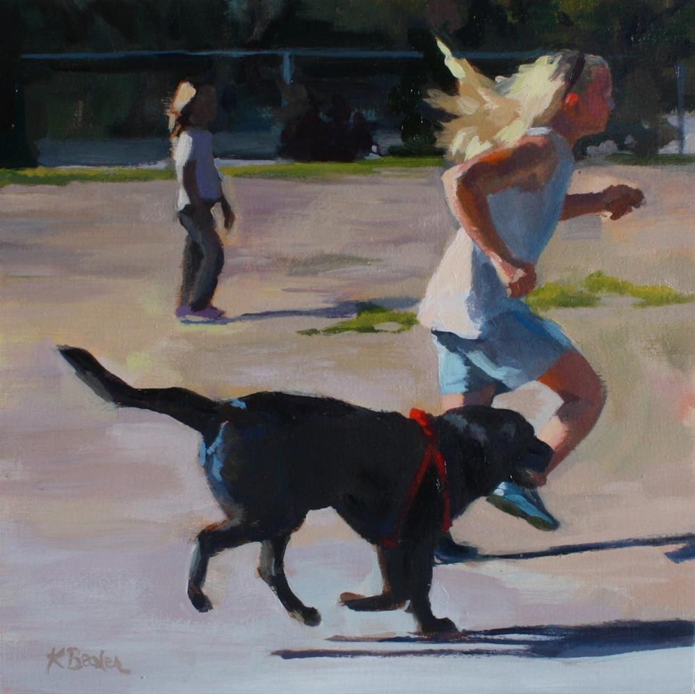"""""""Dog Park"""" original fine art by Kaethe Bealer"""