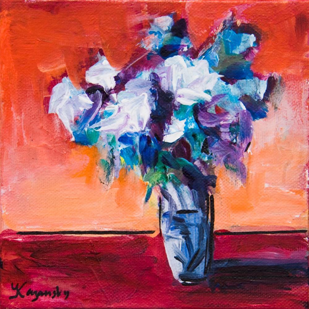 """Floral #4"" original fine art by Yulia Kazansky"
