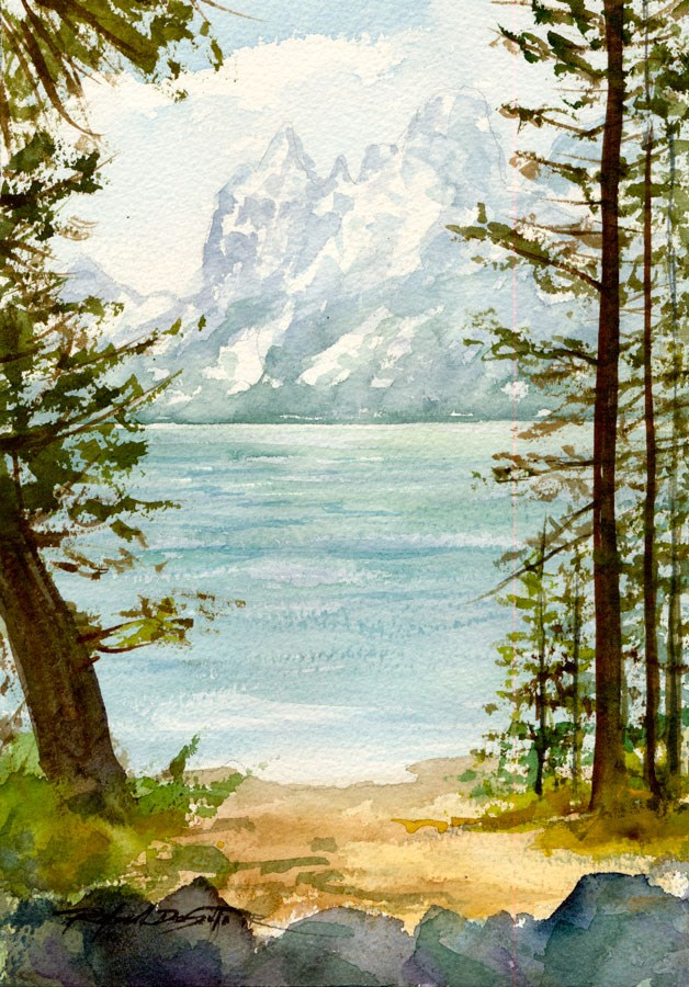 """Refreshing Vista"" original fine art by Rafael DeSoto Jr."