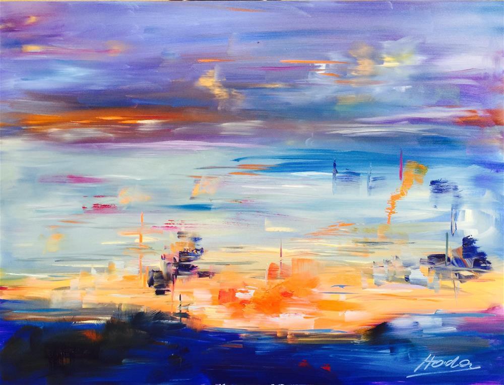 """Sunset Magic"" original fine art by Hoda Nicholas"