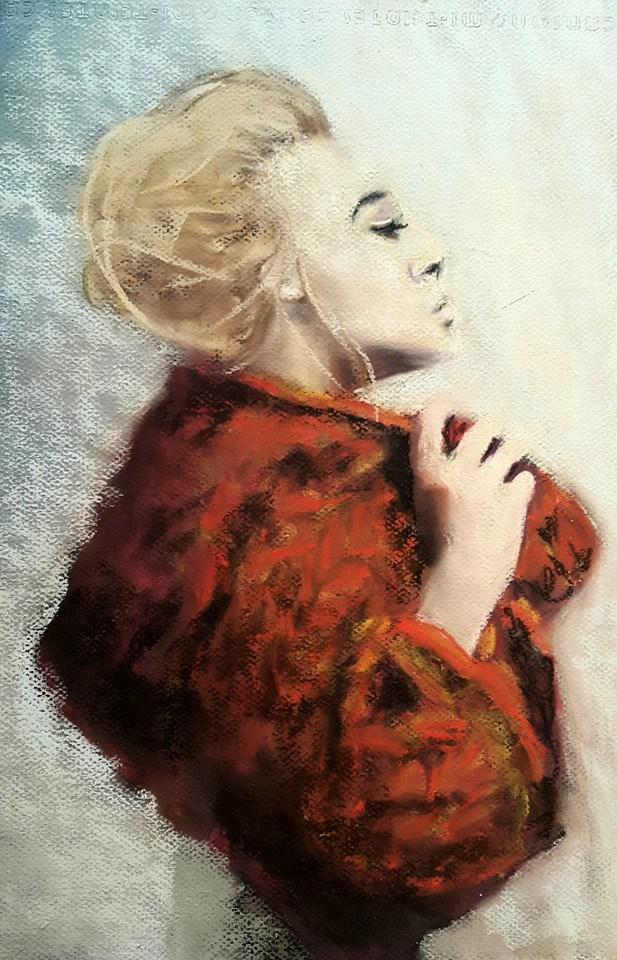 """Red is tne new black"" original fine art by Rentia Coetzee"