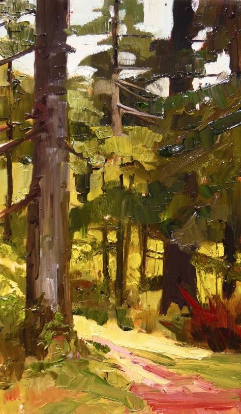 """Forest Trees Dosewallips State Park paint out , plein air , landscape painting by Robin Weiss"" original fine art by Robin Weiss"