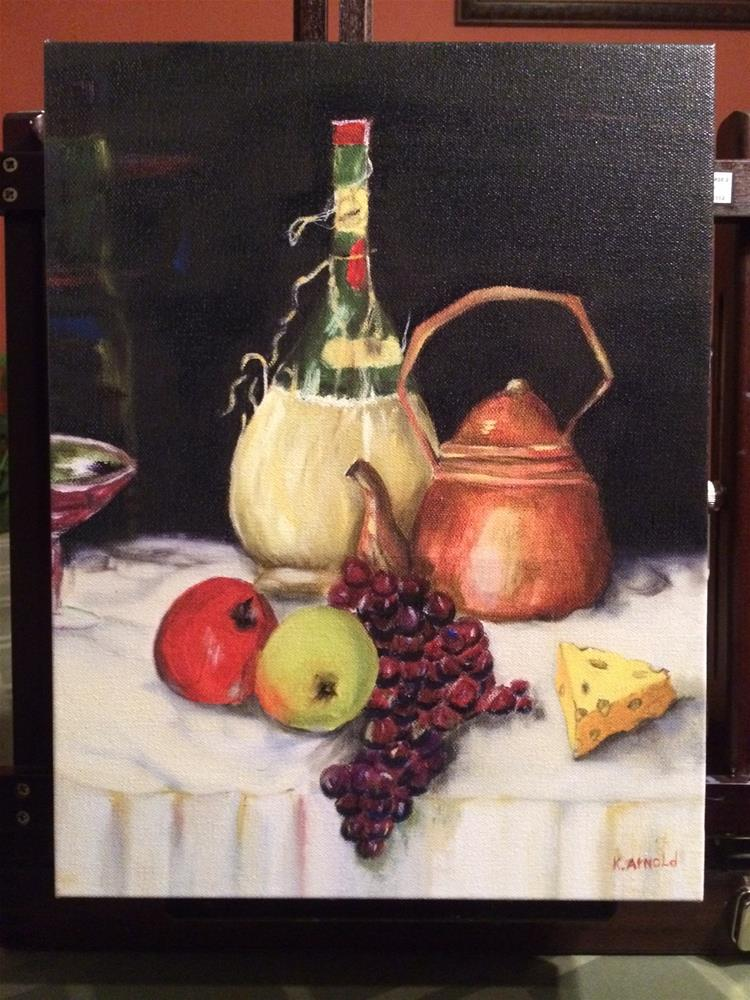 """Tea Time"" original fine art by Kenny Arnold"
