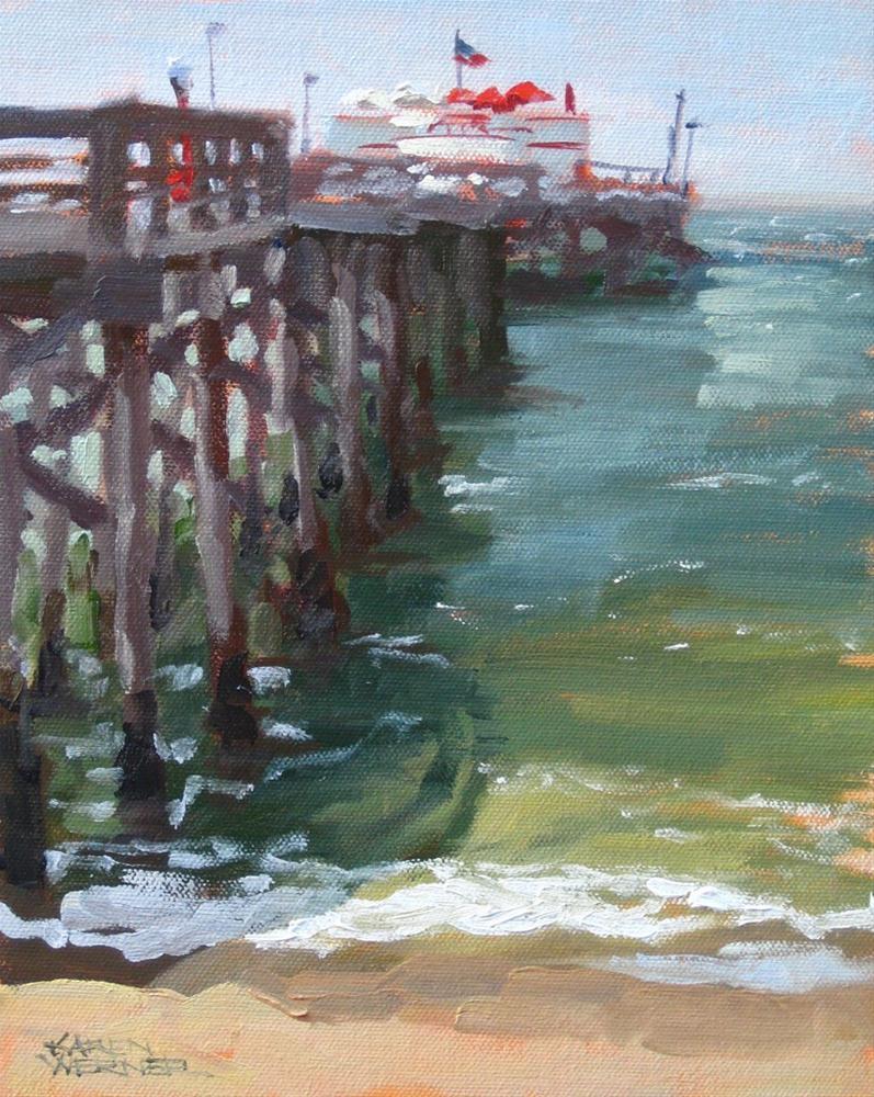"""""""Ruby's On The Pier"""" original fine art by Karen Werner"""