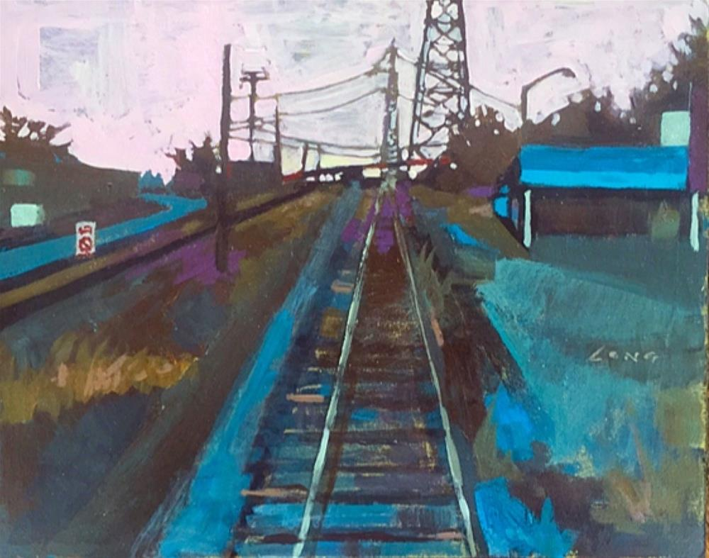 """Bywater Tracks"" original fine art by Chris Long"