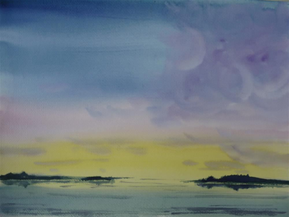 """Lake Washington"" original fine art by Kristina Hess"