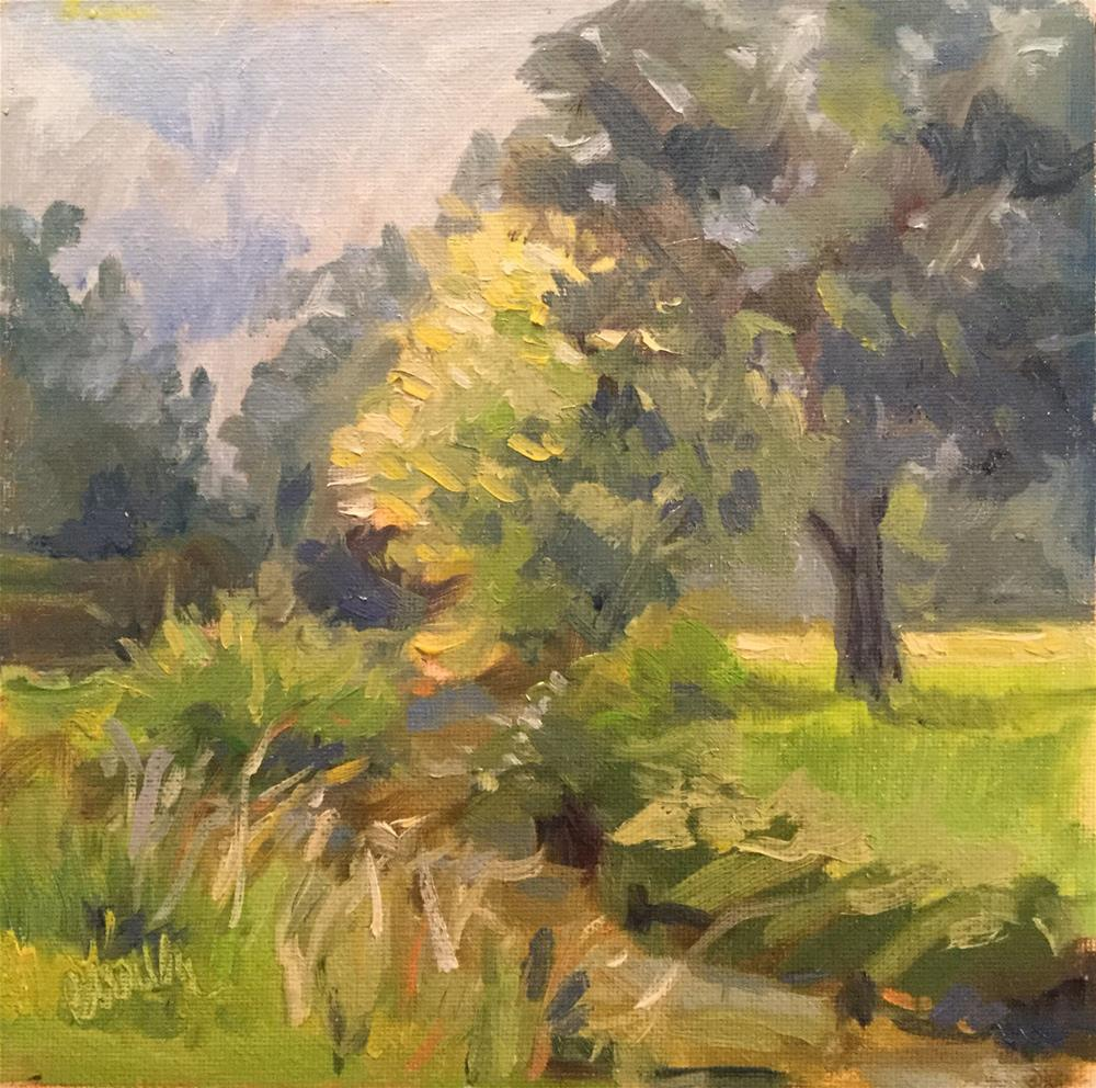 """""""Summer Greens"""" original fine art by Barb Walker"""