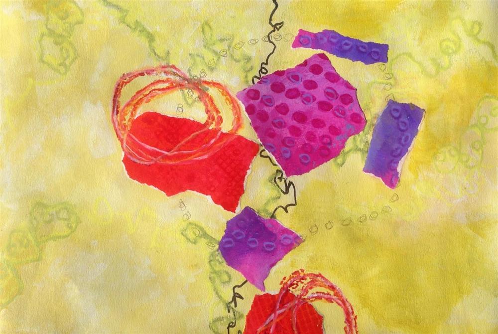 """Shapes, Day 1"" original fine art by Dotty  Seiter"